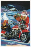 X-Mas Cards Motorcycle  X - 613