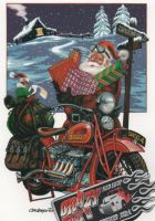 X-Mas Cards Motorcycle  X - 107