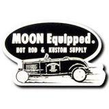 Race Sticker  St - moon Hot Rod & Kustom Supply / black
