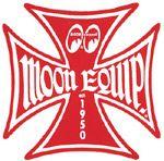 Race Sticker St - moon Malt.Cross Red  /S