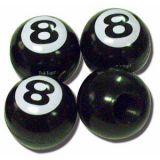 Ventilkappen - 8 Ball schwarz