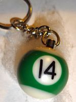 Schlüsselanhänger Billiardkugel PB-14
