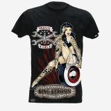 King Kerosin Slub Jersey T-Shirt  Tjm-WRG / Wrench Girl