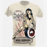 King Kerosin Slub Jersey T-Shirt Tjm2-WRG / Wrench Girl-weiss