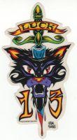 Alain Forbess Sticker - Luck 13 Cat