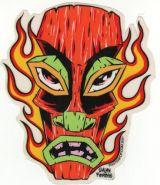 Alain Forbess Sticker - Tiki flames