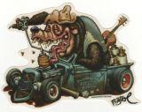 BigToe Sticker - Hotrod Bear
