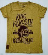 Oilwashed-Shirt von King Kerosin - Lone Riders / Gold