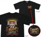 MOON EYES T-Shirt - Scaloop Shoebox / MQT076bk