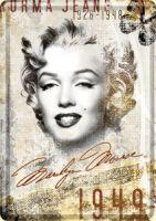 Blechpostkarte - Marilyn Monroe Portrait Collage
