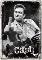 Blechpostkarte - Cash Finger