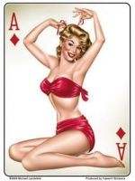 Grosser Pin up Sticker / St-JA469
