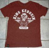 King Kerosin Slub Jersey T-Shirt - Hot Rod Pistons/braun