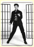 Blechpostkarte - Elvis / Jailhouse Rock