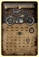 Nostalgie Blech Kalender - Harley-Davidson Brick Wall