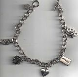 Rock Rebel Bracelets / Hearts-Rose-Knukles-Pistole