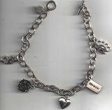 Rock Rebel Bracelets / Hearts-Rose-Knukles-Pistole