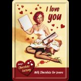 Blechpostkarte - I Love You Chocolate