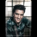 Blechpostkarte - Elvis / in Color