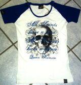 Queen Kerosin Girls Raglan T-Shirt - All Saints