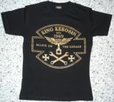 King Kerosin Slimfit T-Shirt-Made In The Garage/metallic bronze