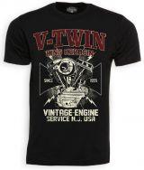 King Kerosin T-Shirt - V.Twin Engine Service