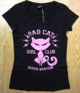 Queen Kerosin Girls T-Shirt - Bad Cat / rose