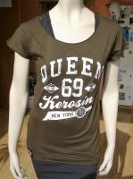 Loose-Shirt von Queen Kerosin - Queen of the Hell khaki
