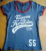 Queen Kerosin Limited Slub Jersey T-Shirt Tjg5-Q55