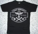 King Kerosin Slimfit T-Shirt-Made In The Garage/metallic silver