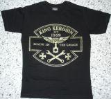 King Kerosin Slimfit T-Shirt-Made In The Garage/metallic green