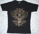 King Kerosin Slimfit T-Shirt - Spark Plugs / metallic bronze