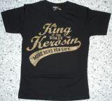 King Kerosin Slimfit T-Shirt /More Revs Per Life-metallic bronze