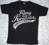 King Kerosin Slimfit T-Shirt /More Revs Per Life-metallic silver
