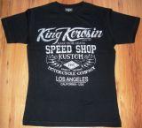 King Kerosin Slimfit T-Shirt - Race Until Death /metallic silver