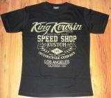 King Kerosin Slimfit T-Shirt - Race Until Death /metallic green