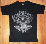 King Kerosin Slimfit T-Shirt - Spark Plugs / metallic silver