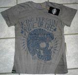 King Kerosin Batik Vintage Shirt - Ride or Die / grey