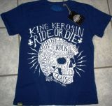 Batik Vintage Shirt - Ride or Die / blau