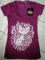 Queen Kerosin Batik Vintage Shirt Lila - Devil or Ang