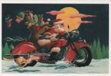 X-Mas Cards Motorcycle  X - 012