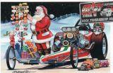 X-Mas Cards Race Cars  X - 588