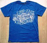 King Kerosin Regular T-Shirt Blue / Stay Loud & Fast