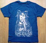 King Kerosin Regular T-Shirt Blue / Sexy Motor Girl