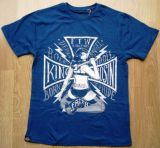 King Kerosin Regular T-Shirt Blue / Born Ride