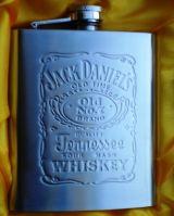 Flachmann Chromstahl - Jack Daniel`s