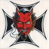 CooP Sticker - Malteser Cross with Smoking Devil