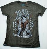 Batik Vintage Shirt - Rebel Forever / dusty olive