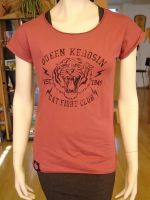 Loose-Shirt von Queen Kerosin - Cat Fight Club rasperry