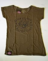 Loose-Shirt von Queen Kerosin - Cat Fight Club khaki